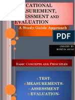 Educational Measurement Assessment and Evaluation