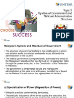 Topic 3 System of Government and National Administrative