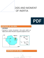 Centroids and Moment of Inertia