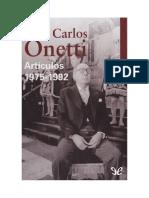 Onetti, Juan Carlos - Artículos 1975-1992