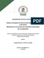 Motivación en El Proceso de Enseñanza Aprendizaje de La Matemática