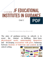 Role of Educational Institutes in Guidance PPT