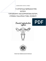 1 LABORATORY MANUAL WEEK I Anatomy; Topography, Uterus, Fallopian Tube, Ovarium