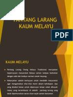 Pantang Larang Kaum Melayu