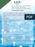LSAA Job Poster Advert Recruitment Officer