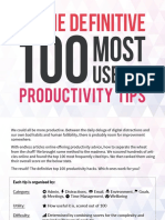 Definitive 100 Most Useful Productivity Hacks