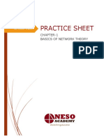Practice Sheet - Network Theory Basics