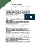 Principles of Management – Fayol's 14 Principles