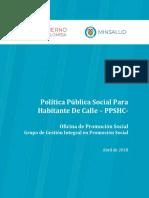 Politica Publica Social Habitante de Calle