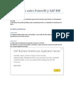 Conexión Entre PowerBI y SAP BW