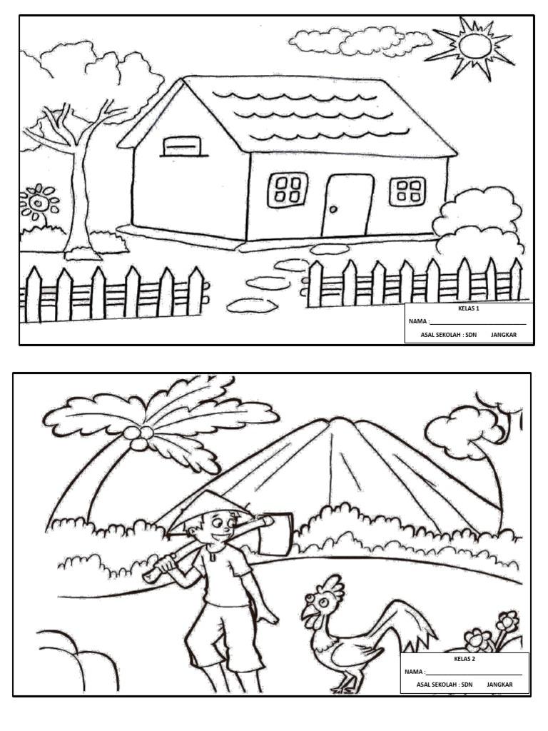 Gambar Mewarnai Anak Sd Kelas 2