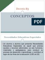 Decreto 83 Conceptos (UNO)