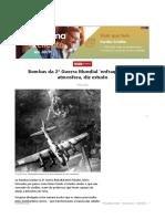 Bombas Da 2ª Guerra Mundial Enfraqueceram Atmosfera, Diz Estudo