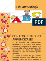 Estilos de Aprendizajes (CUATRO)