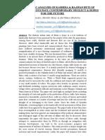 Research Paper on Kashida and Baawan Buti