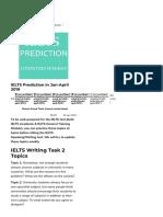 IELTS Prediction in Jan April 2019