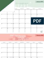 2019 Quotes Calendar FULL EDITABLE