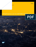 SAP BW4HANA 10 Simplification List
