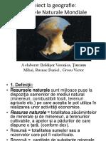 Proiect la geografie Resursele Naturale mondiale.pptx
