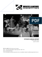 2014 - Annual Report - MISCELLANEOUS Productions