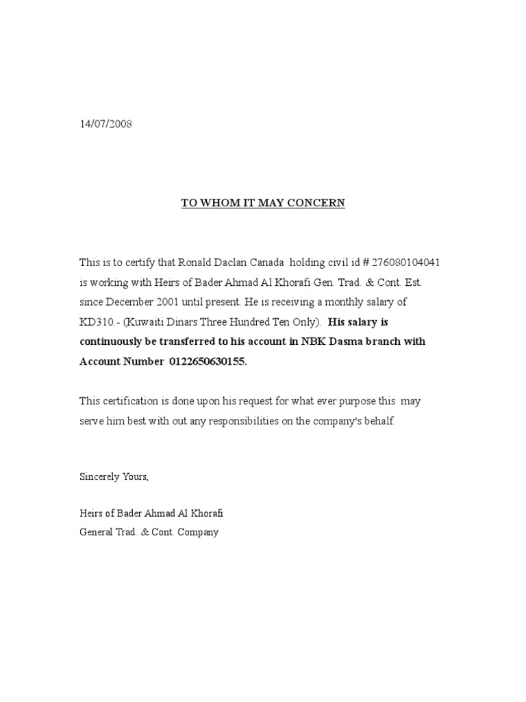 Salary certificate yelopaper Gallery