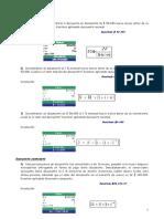 matemática financiera Ejercicios