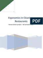 Ergonomics in Cleaning