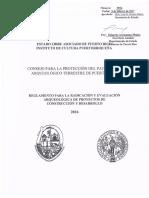 Reglamento Evaluaciones Arqueológicas 2017 DE LEY 112 DE PR copy