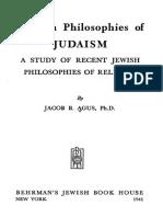 Modern Philosophies of Judaism, por J. B. Agus.pdf