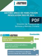Sistema Unico de Habilitacion Res 2003 Habilitacion de Ips