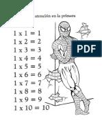 Multiplicacion Hombre Araña
