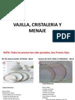 02. Catalogo de Vajilla y Menaje