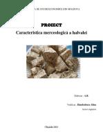 Caracteristica Merceologica a halvalei