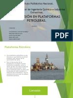 Corrosion en plataformas