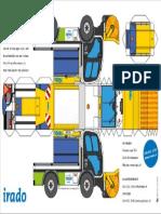 Irado-Strooiwagen-Bouwplaat