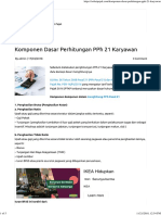 Komponen Dasar Perhitungan PPh 21 Karyawan