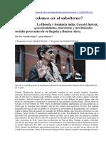 Gayatri Spivak, habla sobre el poscolonialismo, marxismo y movimientos sociales.docx