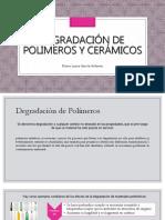Degradación de Polímeros y Cerámicos