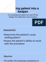 Assisting Patient Into a Bedpan