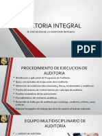 Ejecucion de Auditoria Integral