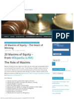 20 Maxims of Equity – the Heart of Winning – You Are Law