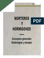 Int. Tecnol. 2011 - Morteros y Hormigones -Conceptos. Simbología y Dosajes