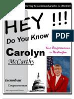 Carolyn McCarthy's Record in Congress