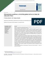 Estiramientos analíticos y stretching global activo en clases de educación física