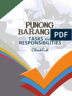 PB Tasks & Responsibilities Checklist