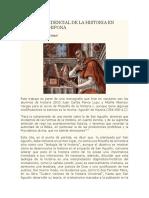 La Visión providencial de la historia en San agustín de Hipona