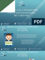Terbaru! Jasa Optimasi Web Terpopuler Wonosobo, 0811-2829-003