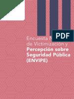 Encuesta Nacional de  Victimización y Percepción sobre Seguridad Pública (ENVIPE)