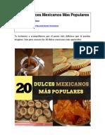 Los 20 Dulces Mexicanos Más Populares