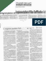 Manila Bulletin, Feb. 18, 2019, Congress pushes full implementation of Rice Tariffication Act.pdf